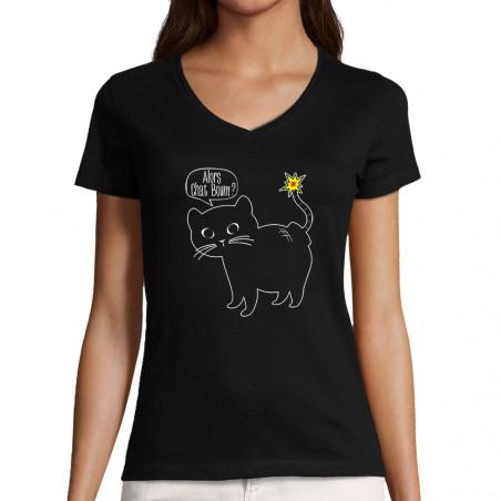 "T-shirt femme col V ""Alors..."