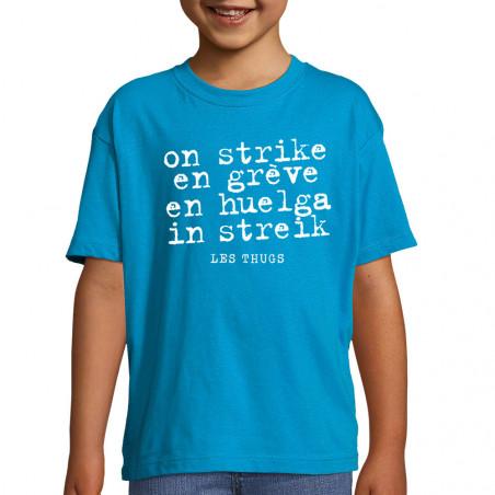 "Tee-shirt enfant ""En grève"""