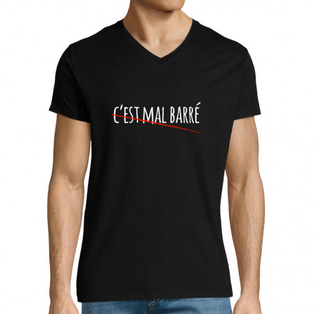"T-shirt homme col V ""C'est..."