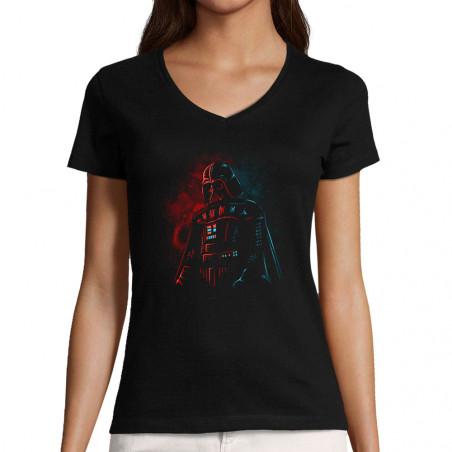 "T-shirt femme col V ""Dark..."