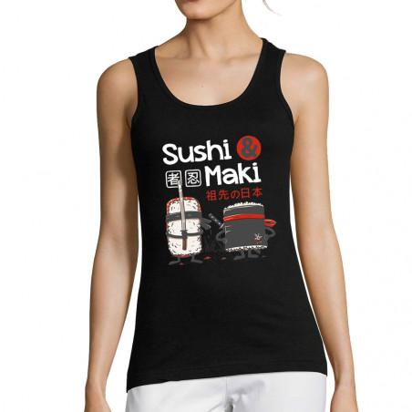 """Débardeur femme """"Sushi et..."""
