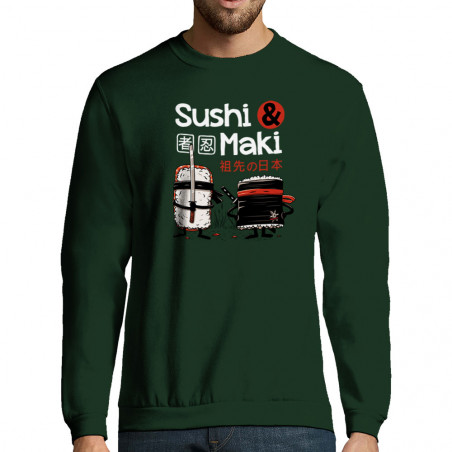 "Sweat-shirt homme ""Sushi et..."