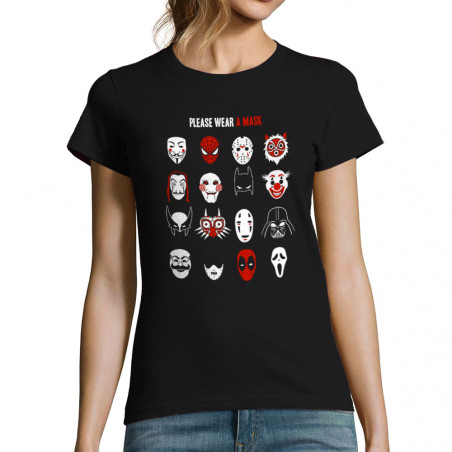 """T-shirt femme """"Please wear..."""