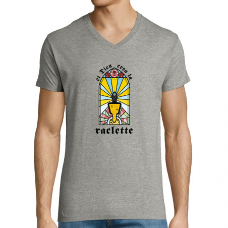 "T-shirt homme col V ""Dieu..."