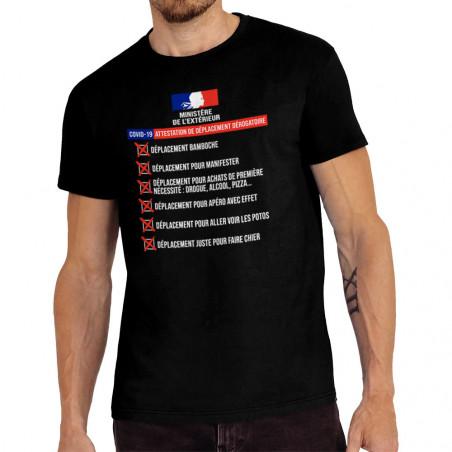 """Tee-shirt homme """"Dérogation..."""