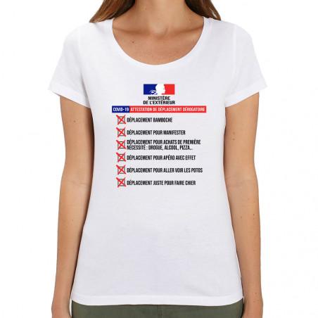 Tee-shirt femme coton bio...