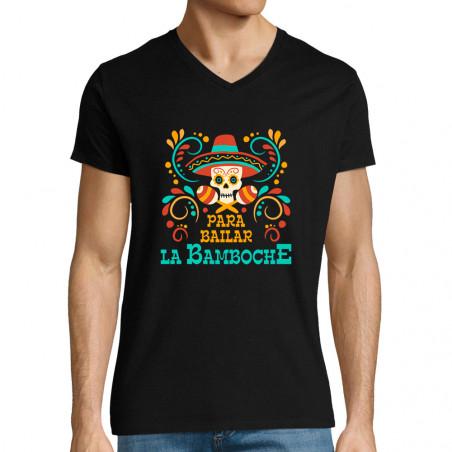"""T-shirt homme col V """"Para..."""
