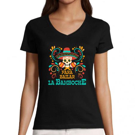 """T-shirt femme col V """"Para..."""