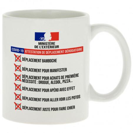 "Mug ""Dérogation de..."