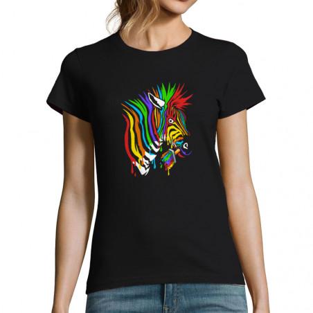 """T-shirt femme """"Zèbre..."""