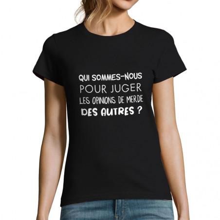 """T-shirt femme """"Qui..."""
