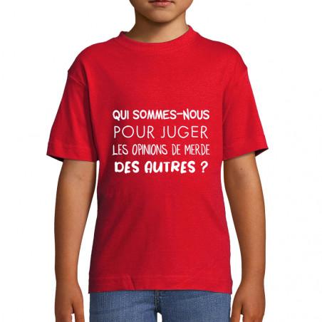 """Tee-shirt enfant """"Qui..."""