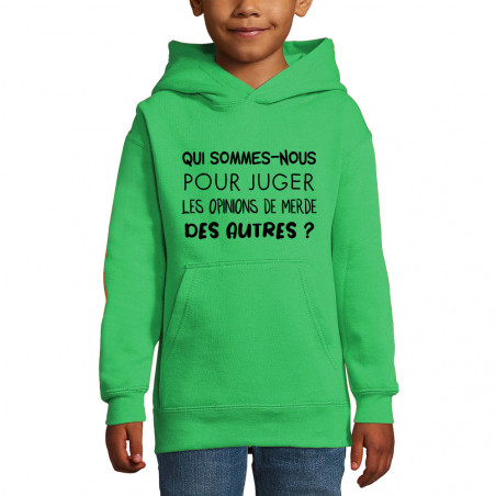 "Sweat enfant à capuche ""Qui..."