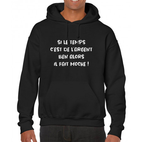 "Sweat homme à capuche ""Il..."