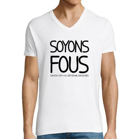 "T-shirt homme col V ""Soyons..."