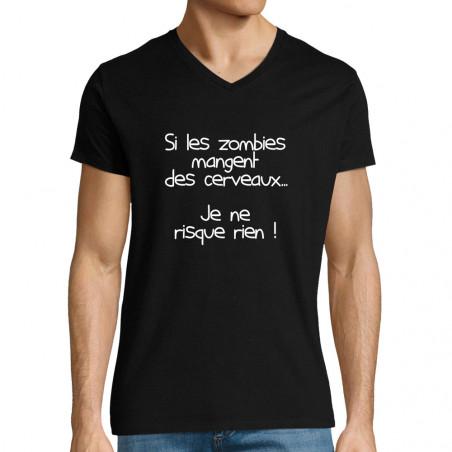 "T-shirt homme col V ""Si les..."