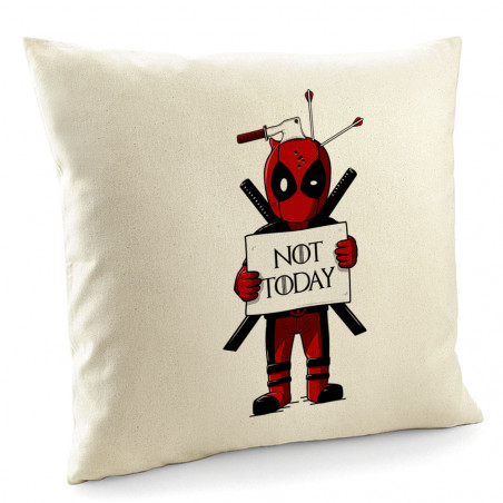 """Coussin """"Deadpool - Not Today"""""""