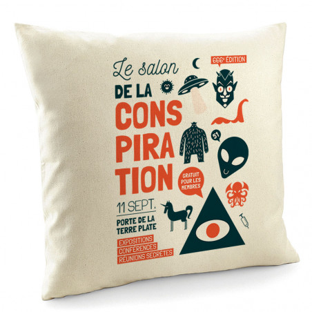 "Coussin ""Conspiration"""