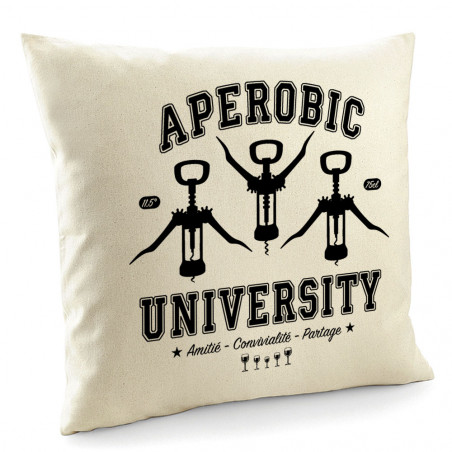 "Coussin ""Aperobic University"""