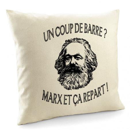 """Coussin """"Marx et ça repart"""""""