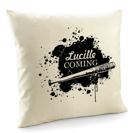 "Coussin ""Lucille is coming"""