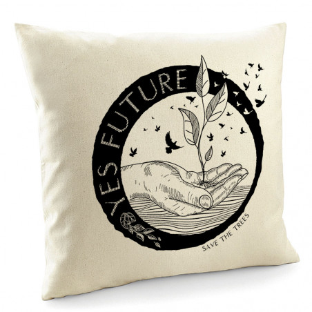 "Coussin ""Yes Future"""