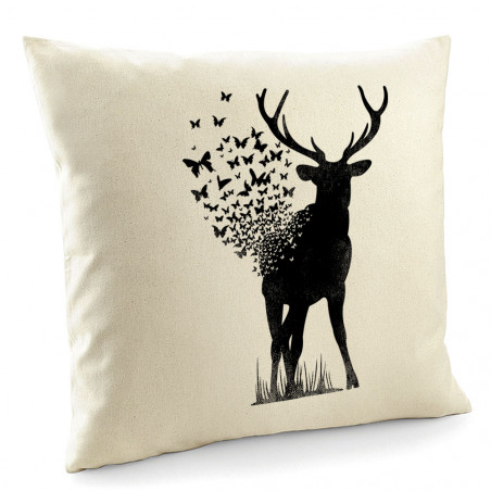 "Coussin ""Deer Butterfly"""