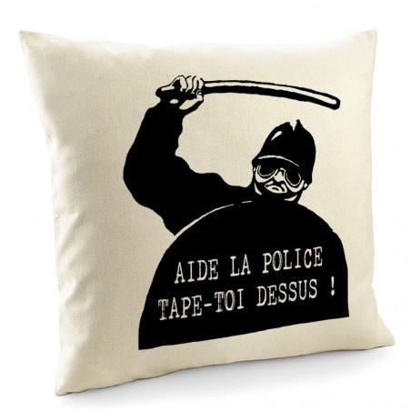 "Coussin ""Aide la police"""