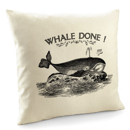 "Coussin ""Whale Done"""