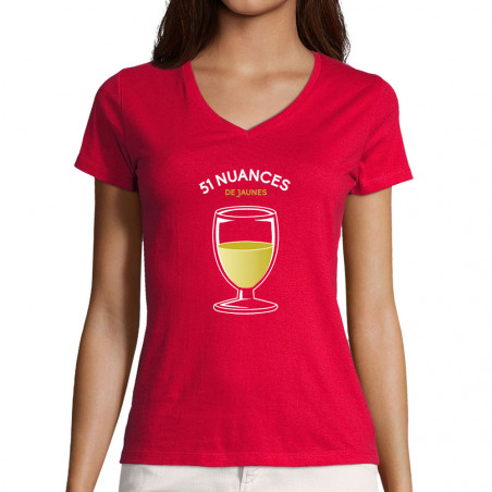 "T-shirt femme col V ""51..."