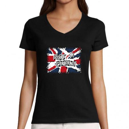 """T-shirt femme col V """"Sex..."""