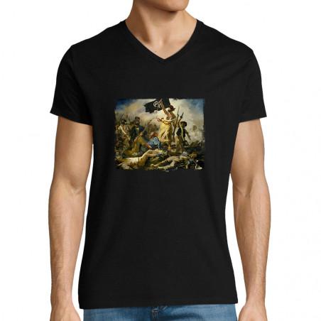 """T-shirt homme col V """"Viva..."""