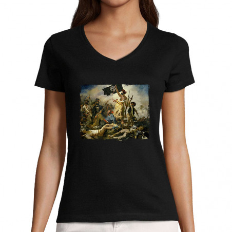 """T-shirt femme col V """"Viva..."""