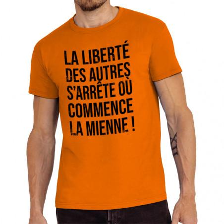 "Tee-shirt homme ""La liberté..."