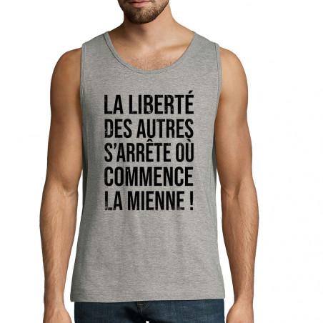 """Débardeur homme """"La liberté..."""
