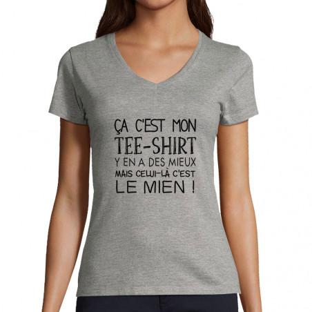 """T-shirt femme col V """"Ca..."""