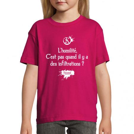 """Tee-shirt enfant """"L'humilité"""""""