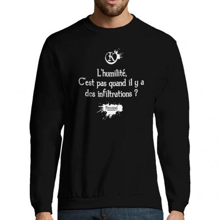 """Sweat-shirt homme """"L'humilité"""""""