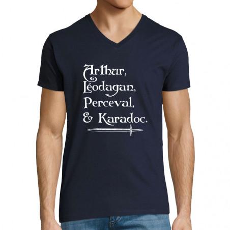 "T-shirt homme col V ""Arthur..."