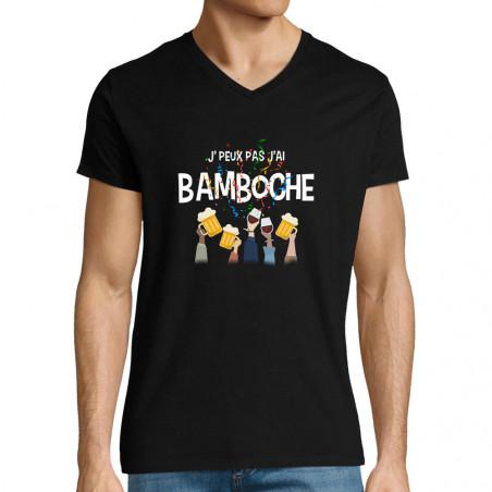"""T-shirt homme col V """"J'peux..."""