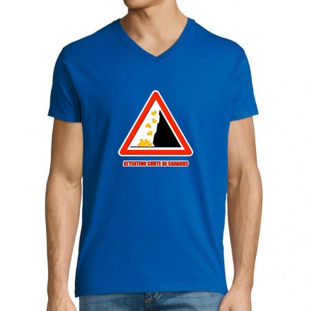 "T-shirt homme col V ""Chute..."