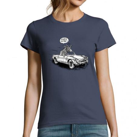 """T-shirt femme """"Achète un âne"""""""