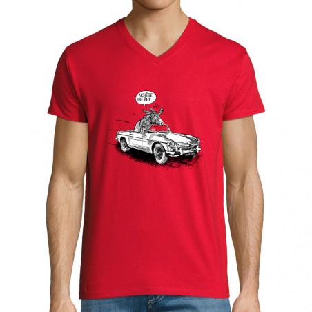 """T-shirt homme col V """"Achète..."""