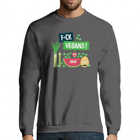"Sweat-shirt homme ""Fuck Vegan"""
