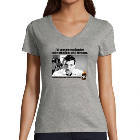 "T-shirt femme col V ""Une..."