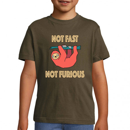 "Tee-shirt enfant ""Not fast..."