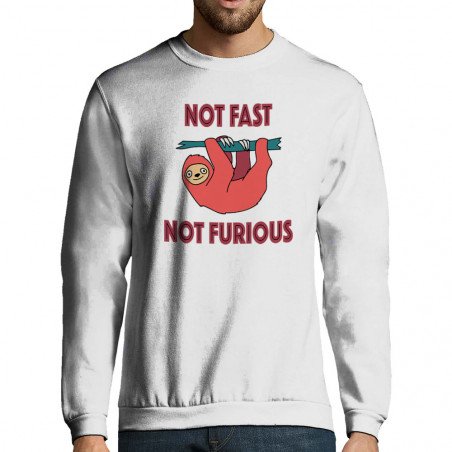 "Sweat-shirt homme ""Not fast..."