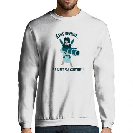 """Sweat-shirt homme """"Jésus..."""