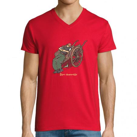"T-shirt homme col V ""Etre..."