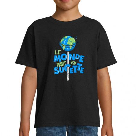 """Tee-shirt enfant """"Le monde..."""